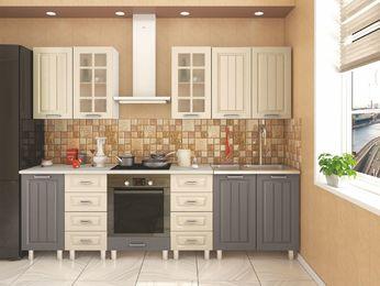 Кухня модульная Луксор серый-кремовый