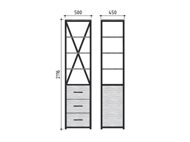Шкаф-витрина DQ серия ITLA